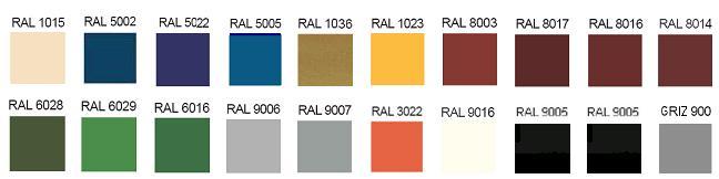 Framex S22 доступна во всех цветах по шкале RAL