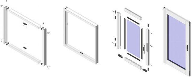 алюминиевые раздвижные системы для балконов в конструкторе