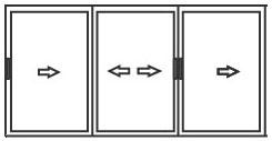 алюминиевые раздвижные системы для балконов 3 створки