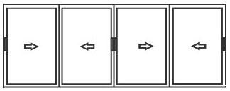 алюминиевые раздвижные системы для балконов 4 створки