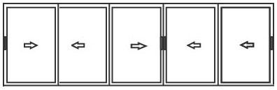алюминиевые раздвижные системы для балконов на 5 створок