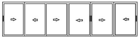 алюминиевые раздвижные системы для балконов на 6 створок