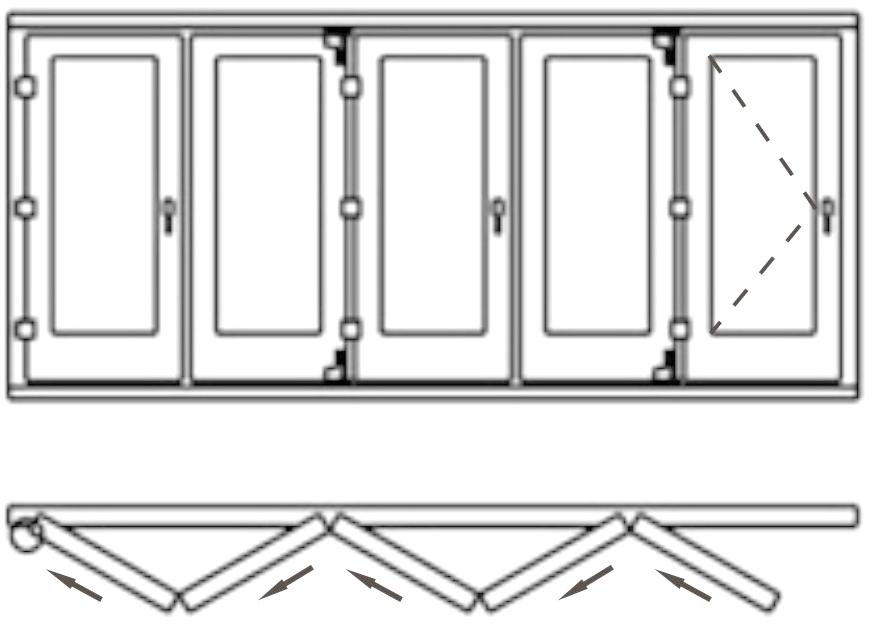 Изготовление двери гармошкой своими